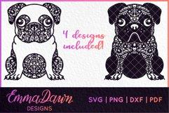HENRI THE PUG DOG SVG MANDALA ZENTANGLE BUNDLE 4 DESIGNS Product Image 2