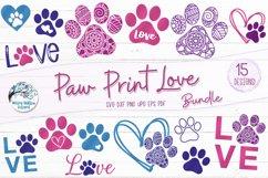 Paw Print Love SVG Bundle | Dog SVG Bundle Product Image 1