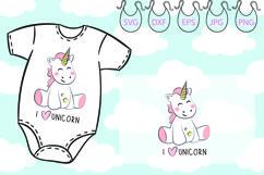 I love Unicorn svg, Believe, Magic, Unicorn horn Product Image 2
