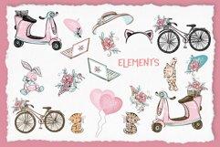 Cute Teen Girls 3, Digital Clipart, Fashion Girls, Valentine Product Image 5