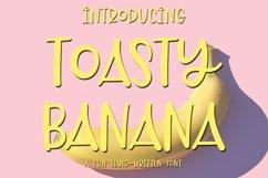 Web Font Toasty Banana - A Fun Hand-Written Font Product Image 1