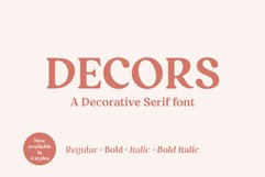 Decors - a decorative serif font Product Image 1