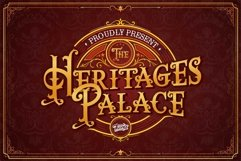 The heritages Palace Vintage Typeface Product Image 1