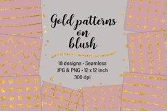 Gold Patterns on Blush Product Image 1