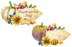 Watercolor Thanksgiving day Product Image 3