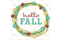 Hello Fall Pretty Wreath svg Product Image 2