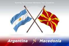 Argentina vs Macedonia Two Flags Product Image 1