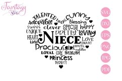 Niece Word Art - Svg Cut Files Product Image 1