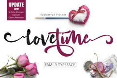 LOVETIME Script family Product Image 1