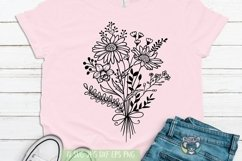 Bouquet svg, Floral svg, Wildflower, Daisy svg, Cricut Files Product Image 1