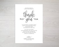 Thanks wedding sign, TOS_47 Product Image 2