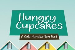 Web Font Hungry Cupcakes Font Product Image 1