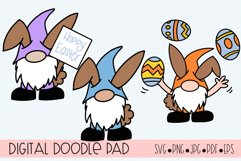 Easter Gnomes SVG Cut Files for Cricut and Silhouette Product Image 1
