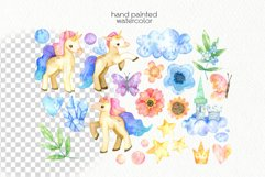 Watercolor Unicorn Clipart - PNG Files Product Image 2