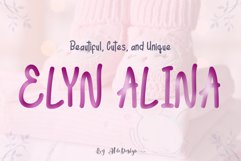 Elyn Alina - Handmade Font Product Image 1