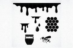 Honey drips svg Honeycomb SVG Dripping borders svg Dripping Product Image 1