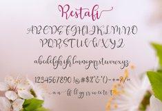 Web Font Restafi Script Product Image 4