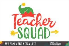 Christmas Teacher Squad SVG, Elf Hat SVG DXF PNG Cricut File Product Image 1