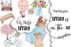 SPRING Clipart Planner FASHION Girl Clipart | Floral Planner Product Image 2