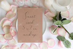 Table card Mockup with a Rose. PSD+JPG Product Image 1