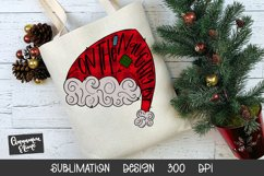 Santa Hat Sublimation Design - On The Naughty List Product Image 2