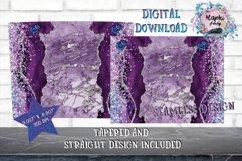 15oz Sublimation Marble  Skinny tumbler Design wrap Product Image 2