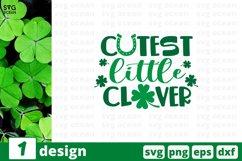 Cutest Little Clover SVG Cut File | St Patricks Day Cut File Product Image 1