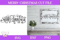 Christmas Svg - Merry Christmas Farmhouse Vintage Sign Product Image 1