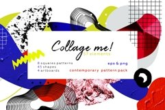 Collage me! Abstract and modern patterns and shapes set. Product Image 1