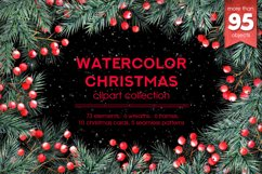 Watercolor Christmas cliparts Product Image 1