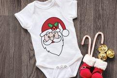 Santa Face SVG - Christmas Santa Face Cliparts Product Image 3