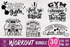 Workout bundle 30 designs SVG EPS DXF PNG Product Image 2