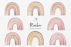 Watercolor orange rainbow Product Image 2