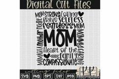 Mom Svg, Mom Typography Svg, Mothers Day Svg, Mom Life Svg Product Image 2