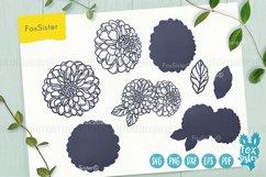 Flower svg, Clipart Vector Cut File, Floral svg, Dahlia svg Product Image 3