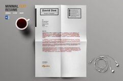 Minimal Flat Resume Template Product Image 4