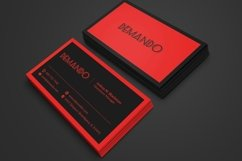 Black and Red Business Card Product Image 3