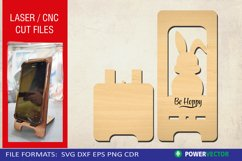 Easter Bunny Phone Stand| Laser, CNC cutting engraving file Product Image 1