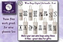 Wine SVG - Wine Bag Bundle - 8 SVG & PNG digital files Product Image 1