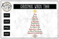Christmas Tree Word Art | Christmas SVG Product Image 1