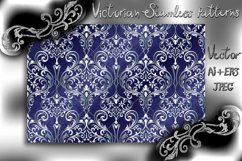 Victorian seamless pattern with ornament in vintage style. Product Image 1