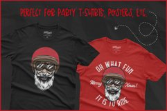 Biker Santa for Crafters, Oh What Fun It Is To Ride SVG Product Image 4