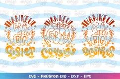 Fall Bundle SVG Thankful Cousins Big Brother Big Sister Product Image 1