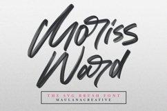 Moriss Ward SVG Brush Font Product Image 1