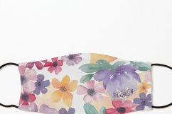 Watercolor flowers seamless pattern Colorful flowers clipart Product Image 12