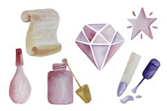 Manicure watercolor digital clipart Product Image 5