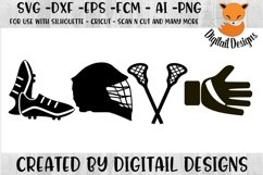 Lacrosse Love SVG Product Image 1