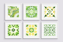 Spring Tiles Green Watercolor Clipart Set1 Product Image 6