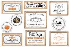 Fall sign bundle, pumpkin SVG, Fall Circle SVG, fall svg Product Image 1