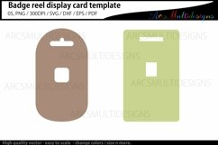 Badge reel display card template / retractable Product Image 2